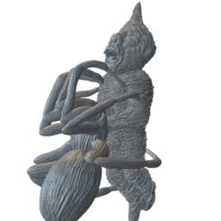 enano araña - copia.png Télécharger fichier STL gratuit Victime d'une araignée naine avec une araignée • Objet pour impression 3D, anvilcrafter