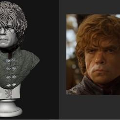Sin título.jpg Download free STL file Tyrion Lannister Bust • 3D printing design, anvilcrafter
