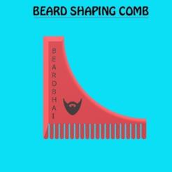 beard.PNG Télécharger fichier STL Peigne à barbe • Design à imprimer en 3D, aaryakumargupta