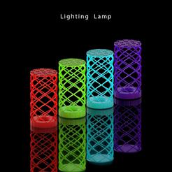 lampshowcase1.png Télécharger fichier STL Lampe • Objet à imprimer en 3D, aaryakumargupta
