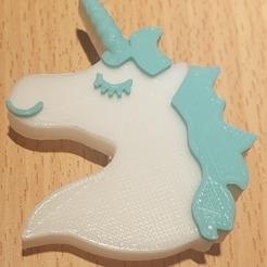 Download STL file Unicorn Pin's Head • 3D printing object, Zebulon93
