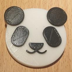 Panda_Imprimer.jpg Télécharger fichier STL Tête de Panda Pin's • Plan pour impression 3D, Zebulon93