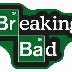 breaking bad logo[544].jpg Download STL file Keyring Breaking Bad Logo • 3D printing template, calaverasydiablitos