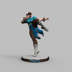 1.jpg Download STL file Street Fighter Chun Li - 3D Printing Model Diorama • Model to 3D print, seandarkhouse