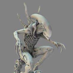 5_00000.jpg Download STL file Alien Xenomorph 3D Print Model 3D print model • Object to 3D print, seandarkhouse