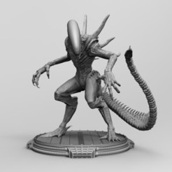 untitled.0.jpg Download STL file Alien Xenomorph 3D Print On Toxic Chamber Diorama 3D print model • 3D printing object, seandarkhouse