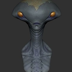 ZBrush Document.jpg Download STL file Alien Jordu • 3D printing object, rigpes