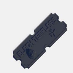 black templars.png Télécharger fichier STL Plaque de l'armée des Templiers noirs • Modèle pour imprimante 3D, J-Dawg
