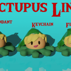 Pulpito Link.png Download STL file Plush octopus Link Keychain/pending/Flowerpot • 3D printable design, Ctrl_Z3T4