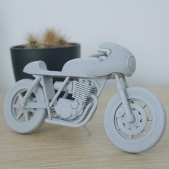 DF-500-Mi_6.jpg Download 3MF file Motorcycle 1/16 Cafe racer Dimville 500 Mi • 3D printable template, dimvillefactory