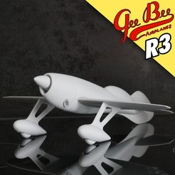 7.jpg Download 3MF file 1/30 Gee-Bee R3 Race plane • Design to 3D print, dimvillefactory