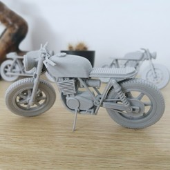 1.jpg Download 3MF file 1/16 YAMAHA SR500 BRAT V2 CUSTOMIZABLE • 3D printable template, dimvillefactory
