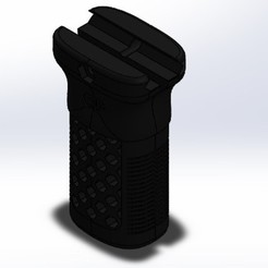 Puño panel.jpg Télécharger fichier STL Airsoft straight grip / puño recto airsoft • Objet pour impression 3D, SPGear17