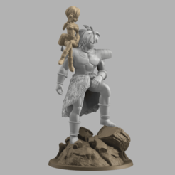 Annotation 2020-09-03 174029.png Download STL file Chirai and Broly  • 3D print object, DBZmodel