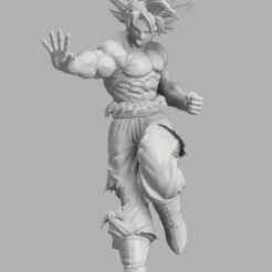 Annotation 2020-09-05 184211.png Download STL file Goku Ultra • 3D printable object, DBZmodel
