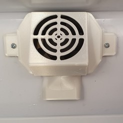 20201003_150407.jpg Télécharger fichier STL gratuit Ensemble support + capot pour ventilateur de frigo • Modèle à imprimer en 3D, SismykDesign