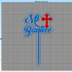 Mi Bautizo.png Download STL file Cake Toppers, Baptism, Religion,Christening • Model to 3D print, jarito11