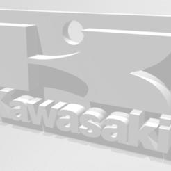 kawa1.PNG Télécharger fichier STL KAWASAKI porte-clé keychain • Plan imprimable en 3D, baptistej2