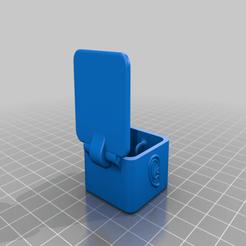 Earplug_case_tall_3.png Download free STL file Earplug Case • 3D printing template, DinosaurNothlit