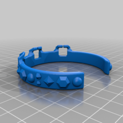 Download free STL file Full Gauntlet Bracelet (gemstone) (piece 1 of 3) • Model to 3D print, DinosaurNothlit