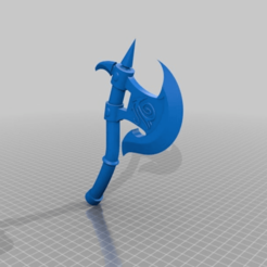 6383c5d15fe282e97bf2a8fc691c89f5.png Download free STL file Lizardman's Axe and Shield • Template to 3D print, DinosaurNothlit