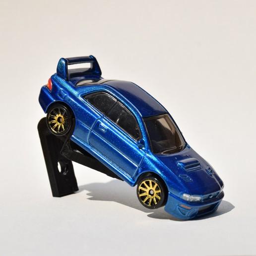 DSC_0462.JPG Download STL file Hotwheels & Diecast Car Display Mount • 3D printer model, mistry3design