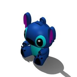 Stitch 2.JPG Download STL file Stitch Keychain • 3D printing design, Prolag3D