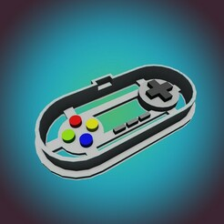 SNES 1.jpg Download STL file  SNES Super Nintendo Entertainment System COOKIE CUTTER (FOR PERSONAL USE ONLY) • 3D printable object, StarForgeCustoms