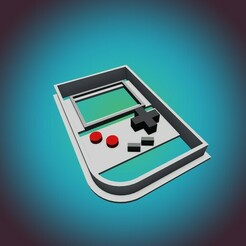 Gameboy 1.jpg Download STL file Nintendo Gameboy Cookie Cutter (COMMERCIAL VERSION) • 3D print object, StarForgeCustoms