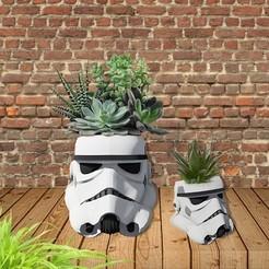 mockup brick.jpg Télécharger fichier STL Jardinière / Pot / Pot à crayons Stormtrooper (À USAGE PERSONNEL SEULEMENT) • Plan imprimable en 3D, Herakles
