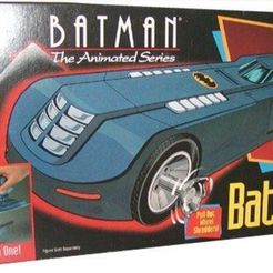 1a.jpg Download STL file KENNER BATMAN ANIMATED SERIES BATMOBILE BAT BOMB • Template to 3D print, Herakles