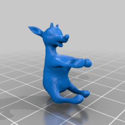 final_rudolph.png Download free STL file Branch grabbing Rudolph the red-nosed reindeer • 3D printer object, TexasPenguin