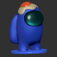 amongus_hat_egg.png Télécharger fichier STL chapeau d'œuf amongus • Objet à imprimer en 3D, DannyartZ