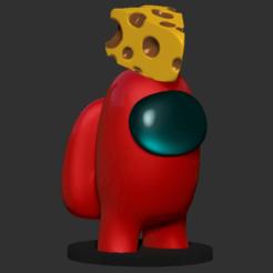 amonguschesse.png Download STL file Amongus cheese • 3D printable model, DannyartZ