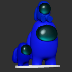 amongushatsonpetson.png Download STL file Amongus pet amongus • 3D print design, DannyartZ