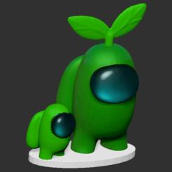 amongus_hat_plant_petson.png Télécharger fichier STL Parmi nous, un animal de compagnie végétal • Modèle pour imprimante 3D, DannyartZ