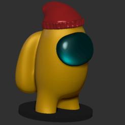 amongus_gorro.png Télécharger fichier STL Parmi nous chapeau • Design pour imprimante 3D, DannyartZ