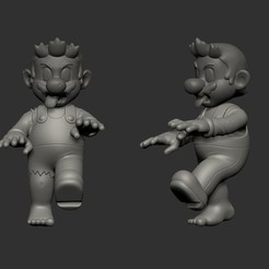 Sin título.jpg Download STL file Zombie Mario • 3D print template, Xlayers