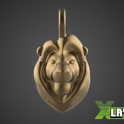 Rey.jpg Download STL file Lion King pendant • 3D print design, Xlayers