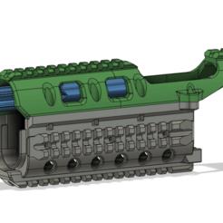 1.png Download STL file Airsoft Strikeball HANDGUARD for AK 74/105 3D print model • 3D printer template, 3D-SEA
