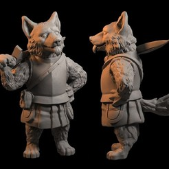 dogie.jpg Download STL file Dog Warrior with Sword - Good Boy • 3D printable model, FITE