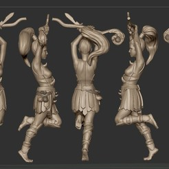 sculpt_pic_female_sorc2.jpg Download STL file Female Sorceress with Staff • Object to 3D print, FITE