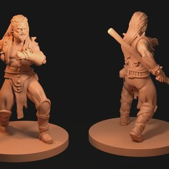 Mage Guy.jpg Download STL file Male Sorceror with Staff • 3D print template, FITE