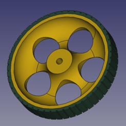 render-rueda-02.PNG Download STL file Turf slicer wheel • 3D printer object, Brod-3D