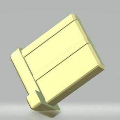 rollo_t_einsatz_v1_b1.JPG Download free STL file Rollo  Endstabgleiter-Endstueck-Rolladen-Endstab-T-Gleiter-Stopper-Fuehrung-8-er-Profil • Object to 3D print, gema2