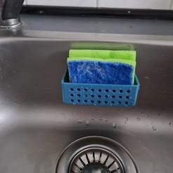 20200608_191607.jpg Download STL file Sponge Sink Basket Holder • Design to 3D print, S7EN