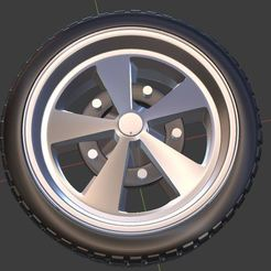 q0.JPG Download STL file VW SCARABAJO Wheel and Tires for diecast and RC model 1/64 1/43 1/24 1/18 • 3D printing design, BlackBox