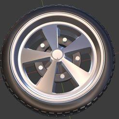 q0.JPG Télécharger fichier STL VW SCARABAJO Roue et pneus pour modèles moulés sous pression et RC 1/64 1/43 1/24 1/18 • Objet imprimable en 3D, TNT_Models