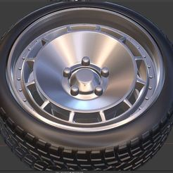 q1.JPG Download free STL file Rota D 154 Wheel and Tire for diecast and RC model 1/64 1/43 1/24 1/18 • 3D printable template, BlackBox