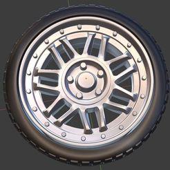 q1.JPG Télécharger fichier STL VW Classic Flocon de neige 2 pièces Roue et pneu pour modèle moulé sous pression et RC 1/64 1/43 1/24 1/18 • Design pour impression 3D, TNT_Models